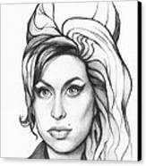 Amy Winehouse Canvas Print by Olga Shvartsur