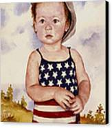 An All American Girl Named Ireland Canvas Print by Sam Sidders