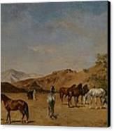 An Arabian Camp Canvas Print