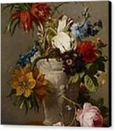 An Arrangement With Flowers Canvas Print by Georgius Jacobus Johannes van Os