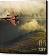 An Eagle Over Cumbria Canvas Print by Meirion Matthias