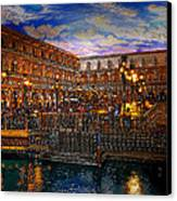 An Evening In Venice Canvas Print by David Lee Thompson