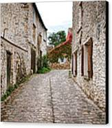 An Old Village Street Canvas Print by Olivier Le Queinec