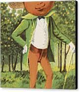An Orange Man Canvas Print by Aged Pixel