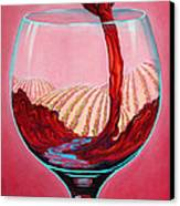 ...and Let There Be Wine Canvas Print by Sandi Whetzel