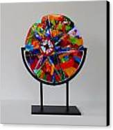 And The Wheel Goes Round And Round Canvas Print by Mark Lubich