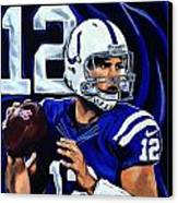 Andrew Luck Canvas Print by Chris Eckley