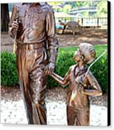 Andy And Opie Statue Nc Canvas Print