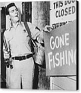 Andy Griffith In The Andy Griffith Show Canvas Print