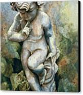 Angel-cherub Canvas Print by Eve Riser Roberts