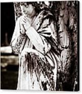 Angel In Prayer Canvas Print by Sonja Quintero