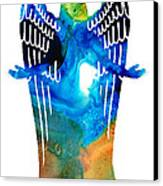 Angel Of Light - Spiritual Art Painting Canvas Print by Sharon Cummings