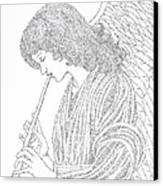 Angel Of Music Canvas Print by Lorraine Foster