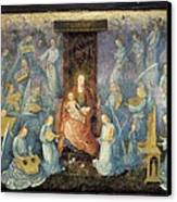 Angelical Concert. 15th-16th C. Flemish Canvas Print by Everett