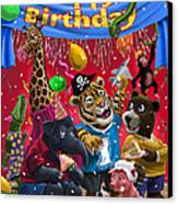 Animal Birthday Party Canvas Print by Martin Davey