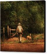 Animal - Dog - A Man And His Best Friend Canvas Print
