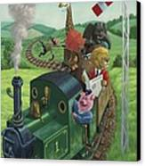 Animal Train Journey Canvas Print by Martin Davey