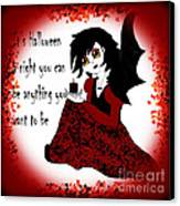 Anime Little Girl Vampire Canvas Print by Eva Thomas