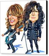 Ann And Nancy Wilson Of Heart Canvas Print by Art