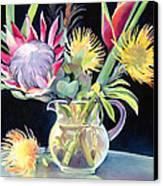 Anna's Protea Flowers Transparent Canvas Print