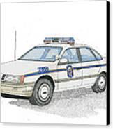 Anne Arundel County Police Canvas Print by Calvert Koerber