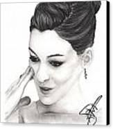 Anne Hathaway Canvas Print