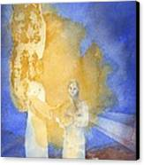 Annunciation Canvas Print by John Meng-Frecker