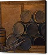 Antique Barrels And Carte Canvas Print by Richard Jenkins