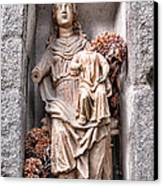 Antique Blessed Virgin Statue Canvas Print