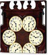 Antique Clock Abstract . Standard Canvas Print by Renee Trenholm