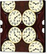 Antique Clock Abstract . Vertical Canvas Print by Renee Trenholm