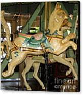 Antique Dentzel Menagerie Carousel Cat Canvas Print by Rose Santuci-Sofranko