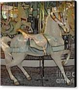 Antique Dentzel Menagerie Carousel Horse Colored Pencil Effect Canvas Print by Rose Santuci-Sofranko