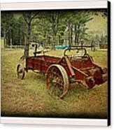 Antique Farm Wagon Canvas Print by Dianne  Lacourciere
