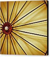 Antique Farm Wheel Canvas Print by Carolyn Marshall
