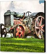 Antique Fordson Tractor - Americana Canvas Print by Gary Heller