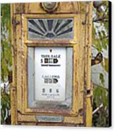 Antique Gas Pump Canvas Print by Peter French