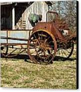 Antique Hay Bailer 1 Canvas Print by Douglas Barnett