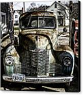 Antique International Pickup Truck Canvas Print by Dick Wood