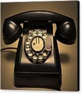 Antique Telephone Canvas Print by Diane Diederich