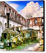 Antique Train Canvas Print by Chuck Staley