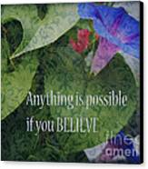 Anything Is Possible Canvas Print by Eva Thomas
