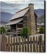 Appalachian Mountain Cabin Canvas Print by Randall Nyhof