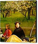 Apple Blossoms Canvas Print by John Everette Millais