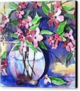Apple Blossoms Canvas Print by Sherry Harradence