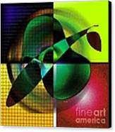 Apple Blur Canvas Print by Iris Gelbart
