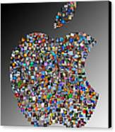 Apple Mosaic On Gradient Canvas Print by Yury Malkov