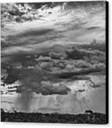Approaching Storm Black And White Canvas Print by Douglas Barnard