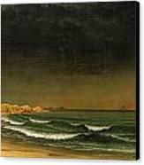 Approaching Storm Near Newport Beach Canvas Print by Martin Heade