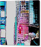 Approaching Times Square Canvas Print by Teresa Mucha